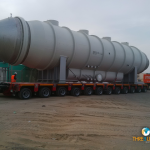 93 Tons Brine Heater movement from Jebel Ali to Hamad